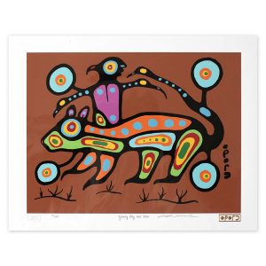Ojibwe Boy and Otter - Christian Morriseau